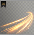 neon transparent golden light effect background vector image vector image