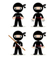 ninja set vector image