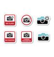 no photos cameras flash icons vector image vector image