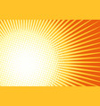 orange yellow pop art sun background vector image vector image