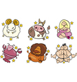 overweight zodiac signs vector image vector image