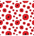 Poppy Flowers Seamless Pattern vector image vector image