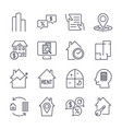 real estate icons professional pixel perfect vector image vector image