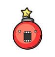 red bomb Icon on white background vector image