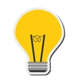 regular lightbulb icon vector image vector image