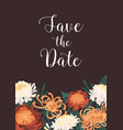 romantic floral vertical template with save vector image