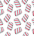 Seamless stylish pattern with marshmallows in a vector image vector image