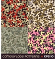 set camouflage seamless patterns vector image