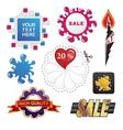 set of sale design elements vector image