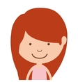 silhouette half body girl and redhead vector image vector image