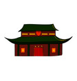 sketch of the traditional chinese house vector image vector image
