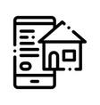 smartphone application search estate icon vector image