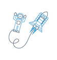 space astronaut with spaceship travel adventure vector image vector image