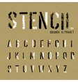 stencil grunge alphabet vector image vector image
