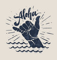 surf hand sign vector image vector image