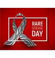 symbol of rare disease day vector image vector image