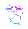 touch icon design vector image