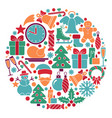 traditional symbols of christmas and new year vector image vector image