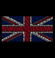 united kingdom flag collage of triangle flag icons vector image