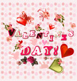 valentines day theme for design vector image vector image