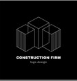 abstract construction firm geometric logo vector image