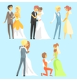 Brides And Grooms Couples vector image