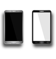a mobile phones black and silver vector image vector image