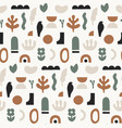 abstract seamless pattern hand drawn shapes and vector image vector image