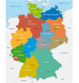 administrative map of the federal republic of vector image vector image