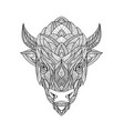 american bison zentagle vector image vector image