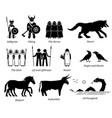 ancient norse mythology people monsters vector image vector image