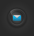Black button envelope email vector image vector image