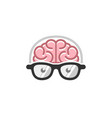 brain head geek logo vector image