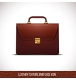 brown color leather briefcase icon vector image vector image
