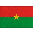 Burkina Faso paper flag vector image vector image