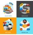 Car Dealership 2x2 Design Concept vector image vector image