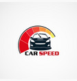 car speed with modern touch logo icon element vector image vector image