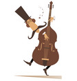 cartoon long mustache cellist vector image
