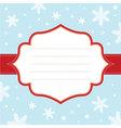 Christmas snowflake frame vector image