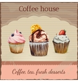 Coffee house advertisement with watercolor vector image vector image