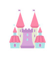 cute fairytale magic castle fortress colorful vector image vector image