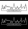 edinburgh skyline linear style editable file vector image vector image