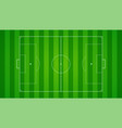 european football soccer field on horizontal vector image