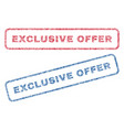 exclusive offer textile stamps vector image