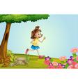 Girl running vector image vector image