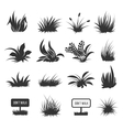 Grass and lawn silhouettes vector image vector image