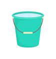green plastic bucket isolated on white background vector image