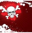 grunge skull 2 vector image vector image