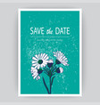 hand drawn close-up chrysanthemum flower artistic vector image