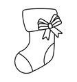 happy merry christmas sock card vector image